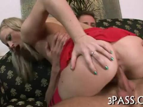 Cutie plays with big dildo